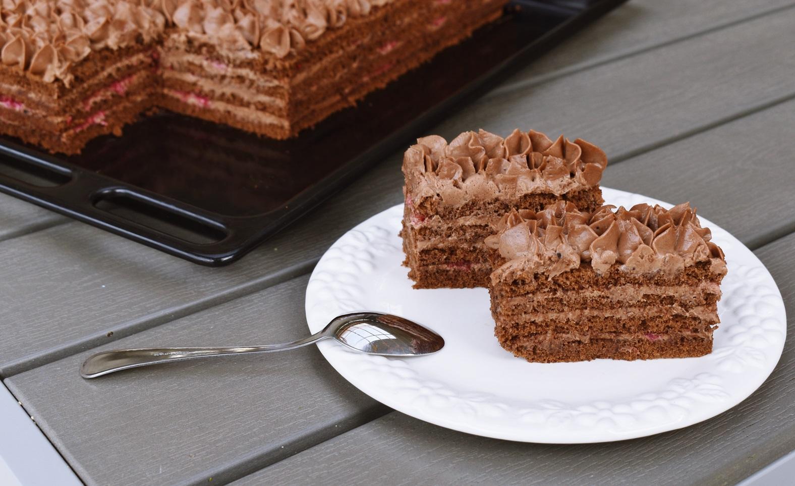 prajitura cu ciocolata si zmeura