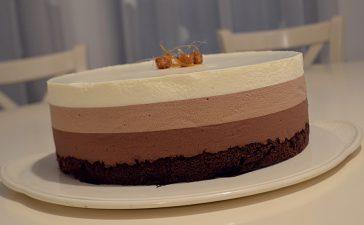 tort cu trei feluri de ciocolata