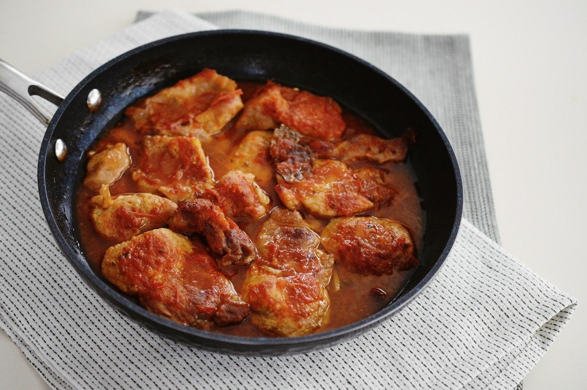 Friptura de porc cu sos